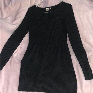 GAP dark dress sweater dress with side slits